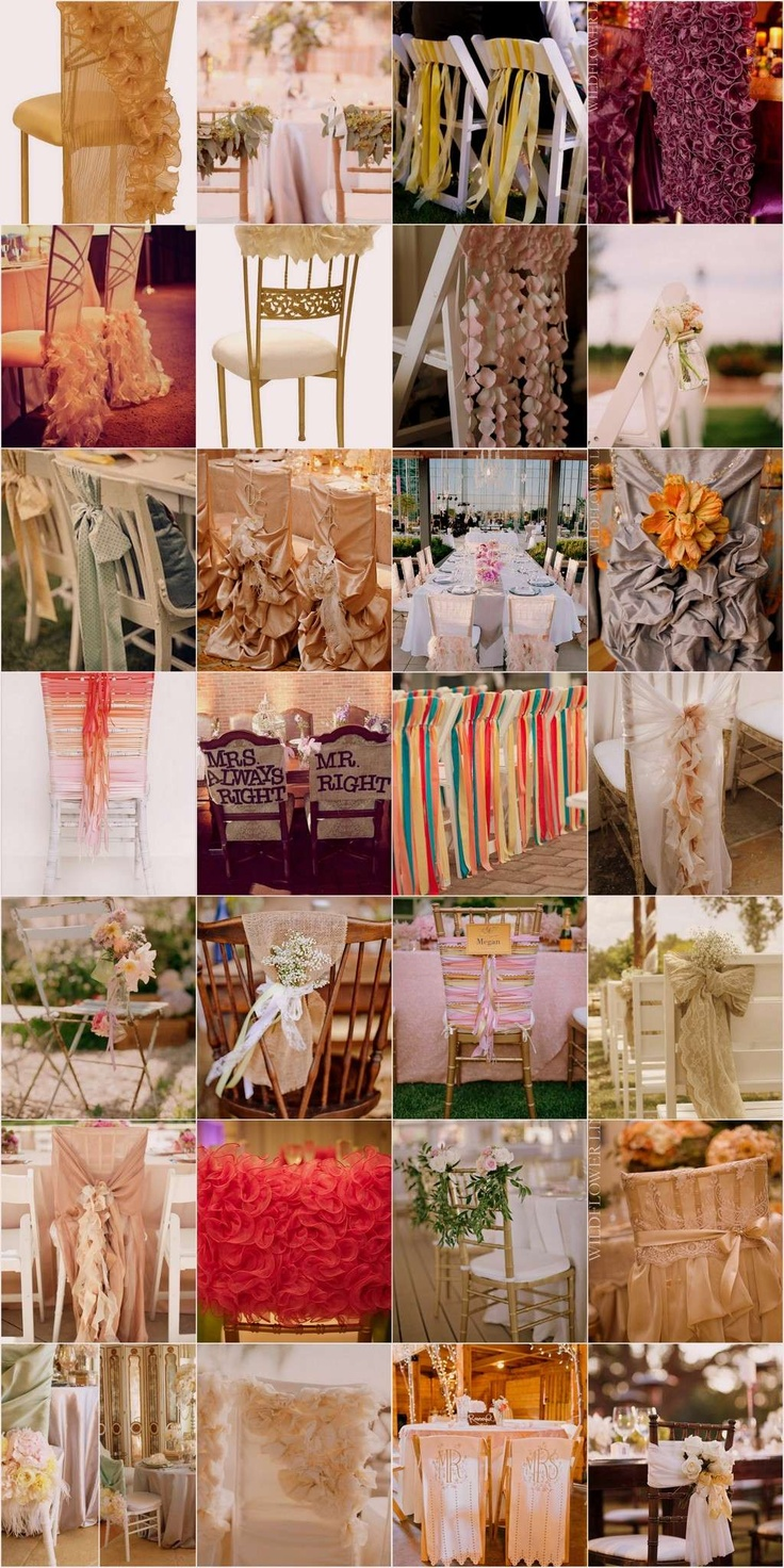 The Awesometastic Bridal Blog Wedding Chair Decor