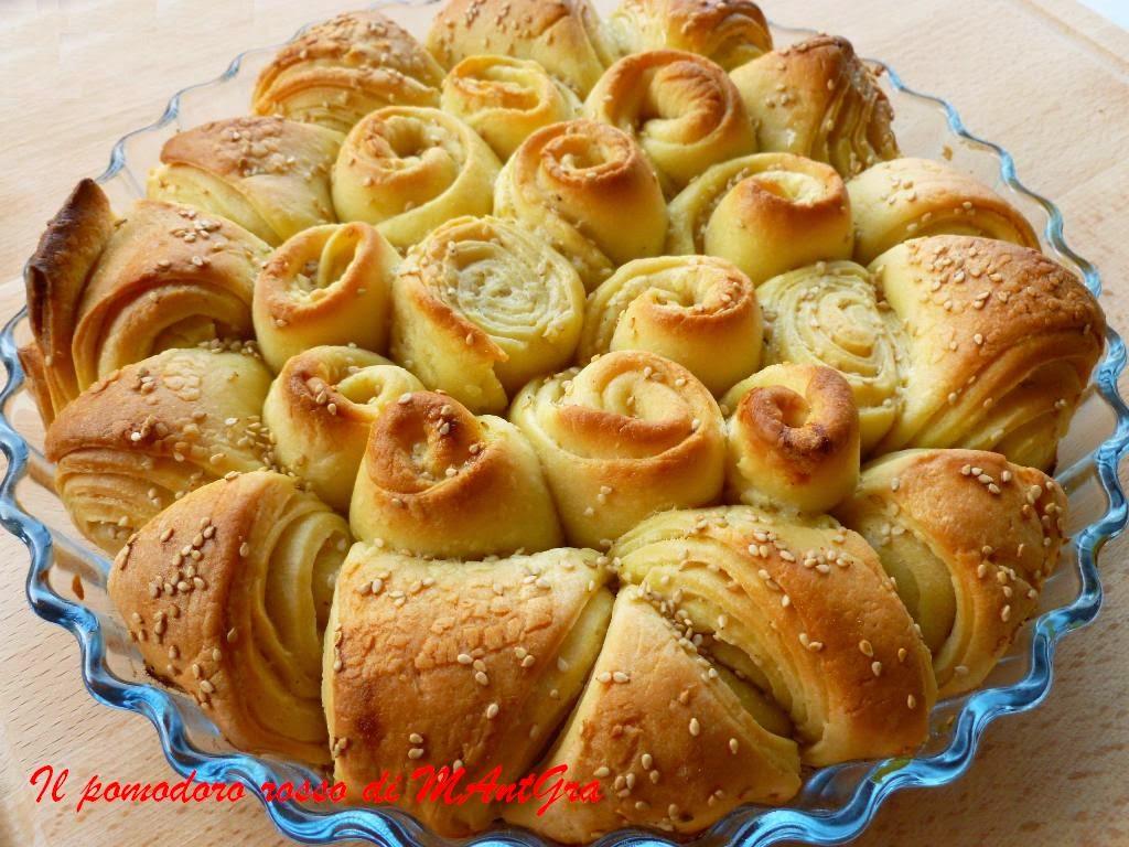 boccioli di pane con lievito madre
