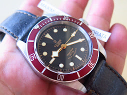 TUDOR BLACK BAY HERITAGE 79220R LEATHER - RED BEZEL - AUTOMATIC