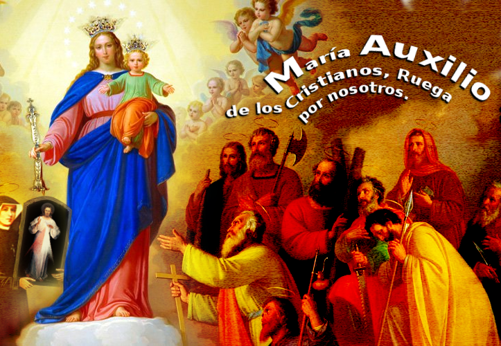 imagen de maria auxiliadora con peticion