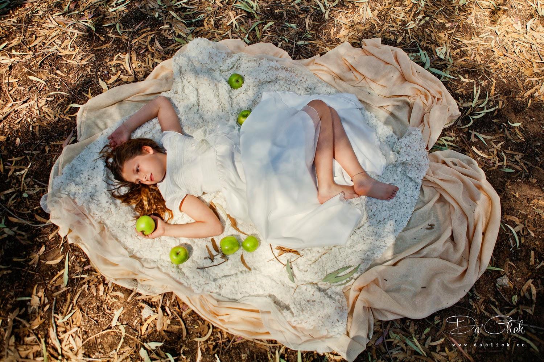 manzana verde niña comunión