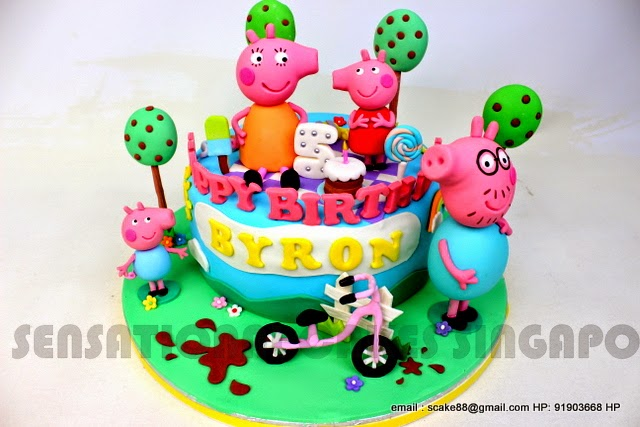 Peppa Pig Birthday Cake Singapore Peppa Inspired Cakes Singapore