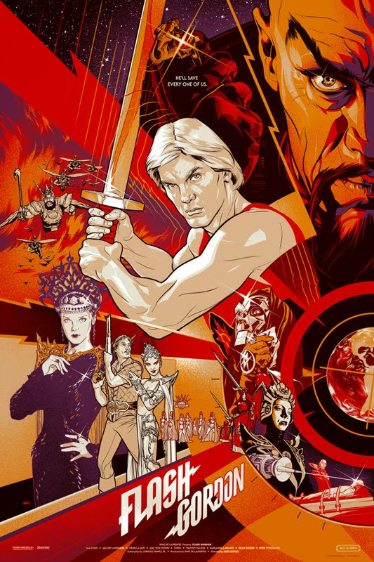 Flash Gordon Screen Print by Martin Ansin