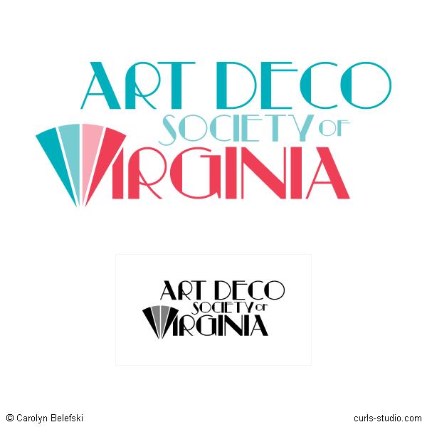Curls Studio Art Deco Society Of Virginia Logo Concept