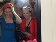 Here are some photos from Bonny's camera taken at the vintage fair trying on .