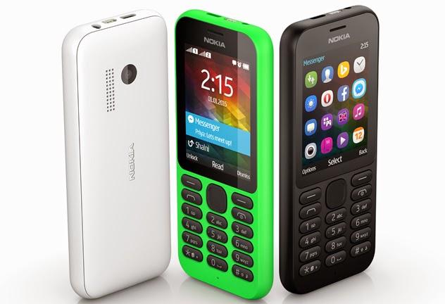Harga dan Spesifikasi HP Nokia 215 Terbaru 2015