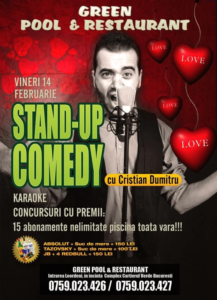 stand up comedy 14 februarie