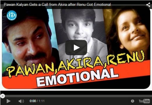 Pawan Kalyan Gets a Call from Akira after Renu Got Emotional | Must Share