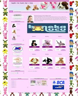 Blogger template toko boneka