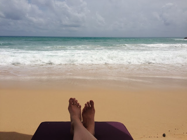 relaxing at Diamond Beach Club, Surin Beach
