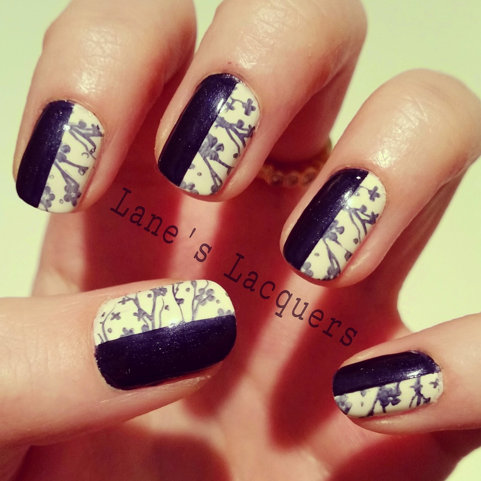 barry-m-coconut-moyou-london-navy-stamping-half-and-half-nail-art