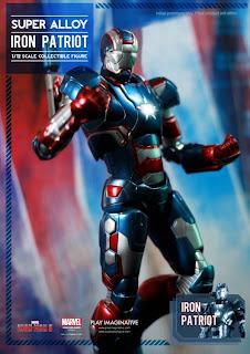 "Play Imaginative Super Alloy Iron Man 3 6"" Iron Patriot Figure"