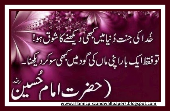 Islamic Pictures and Wallpapers: Aqwal e zareen in urdu