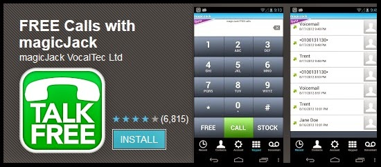 How to make free calls to usa and canada using magic jack Majic app