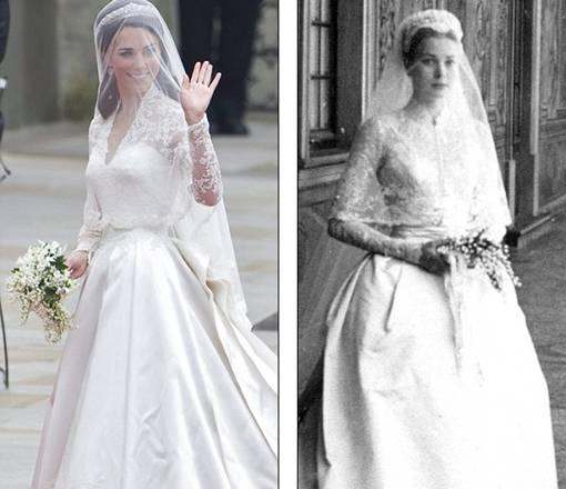Gaun Kate Middleton mirip dengan Gaun Grace Kelly yang menikah dengan