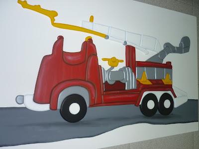 Creaciones de silvia encastre carro de bomberos - Cuadros infantiles silvia munoz ...