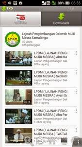 Untuk anda yang suka menjelajahi video di  Download video youtube di android dengan Aplikasi TXD (Tubex)