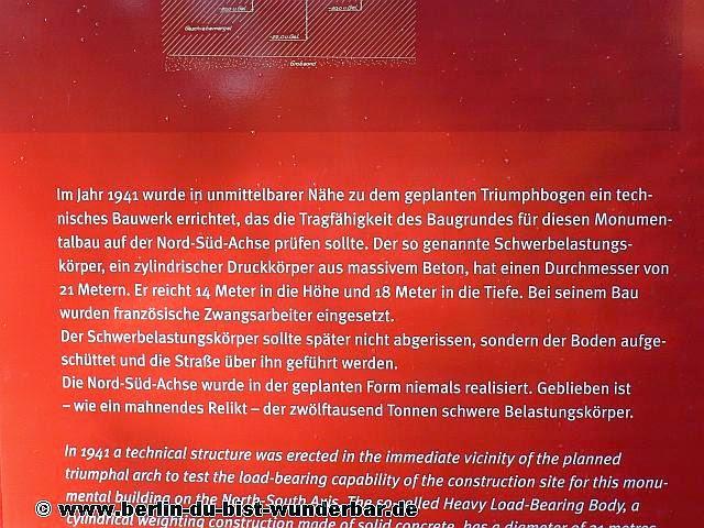 Schwerbelastungskörper, Berlin, Hauptstadt, Welthauptstadt, Germania,Denkmal, 2 Weltkrieg, Nazis-zeit, Beton