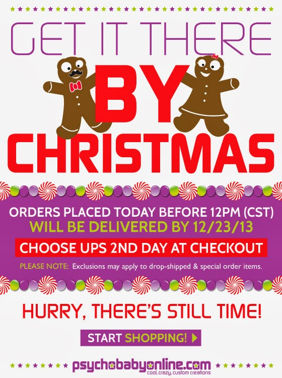 Choose UPS 2nd Day at Checkout & Get it There By Christmas!