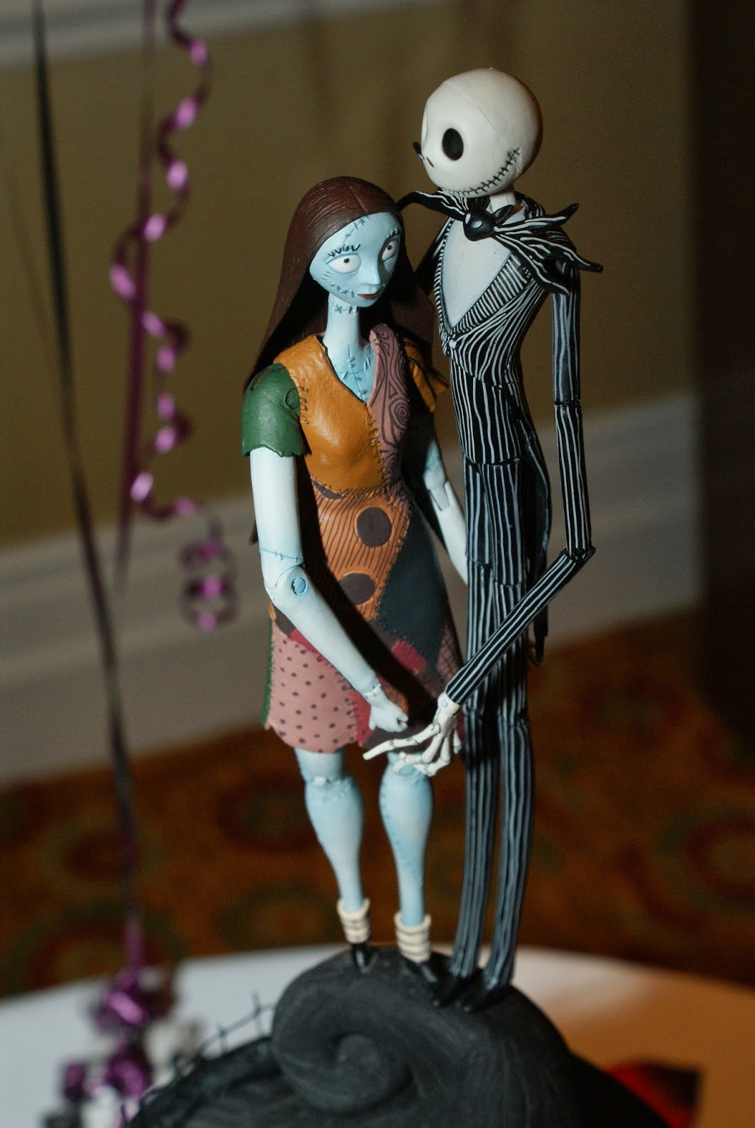 Nightmare before christmas wedding cake topper our nightmare before