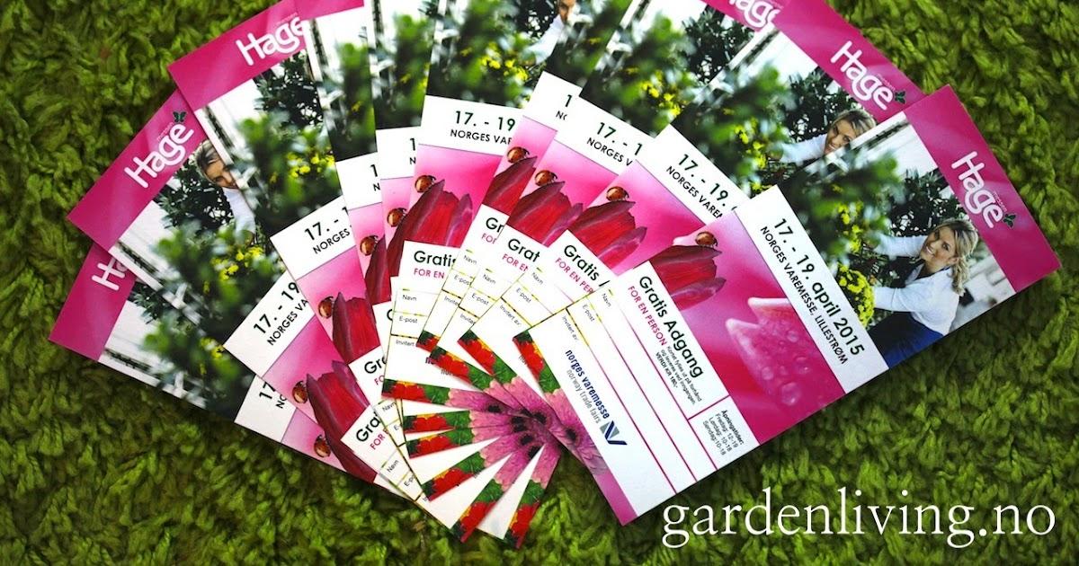 Garden living: vil du ha biletter til hagemessen på lillestrøm?