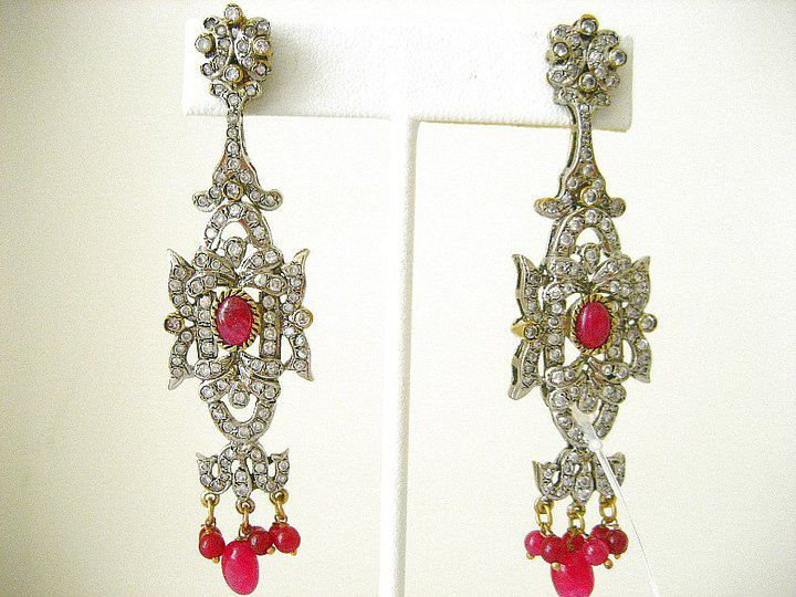 pakistani bridal earrings jewellery