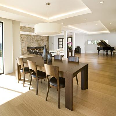 Casas minimalistas y modernas mas comedores formales modernos for Comedores minimalistas