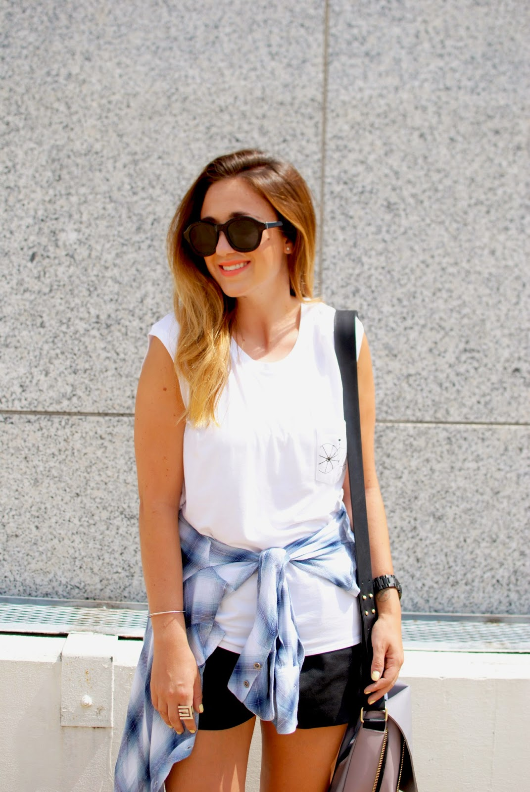 leather shorts, white tee, outfit, style, blogger, umano tees, t shirt art