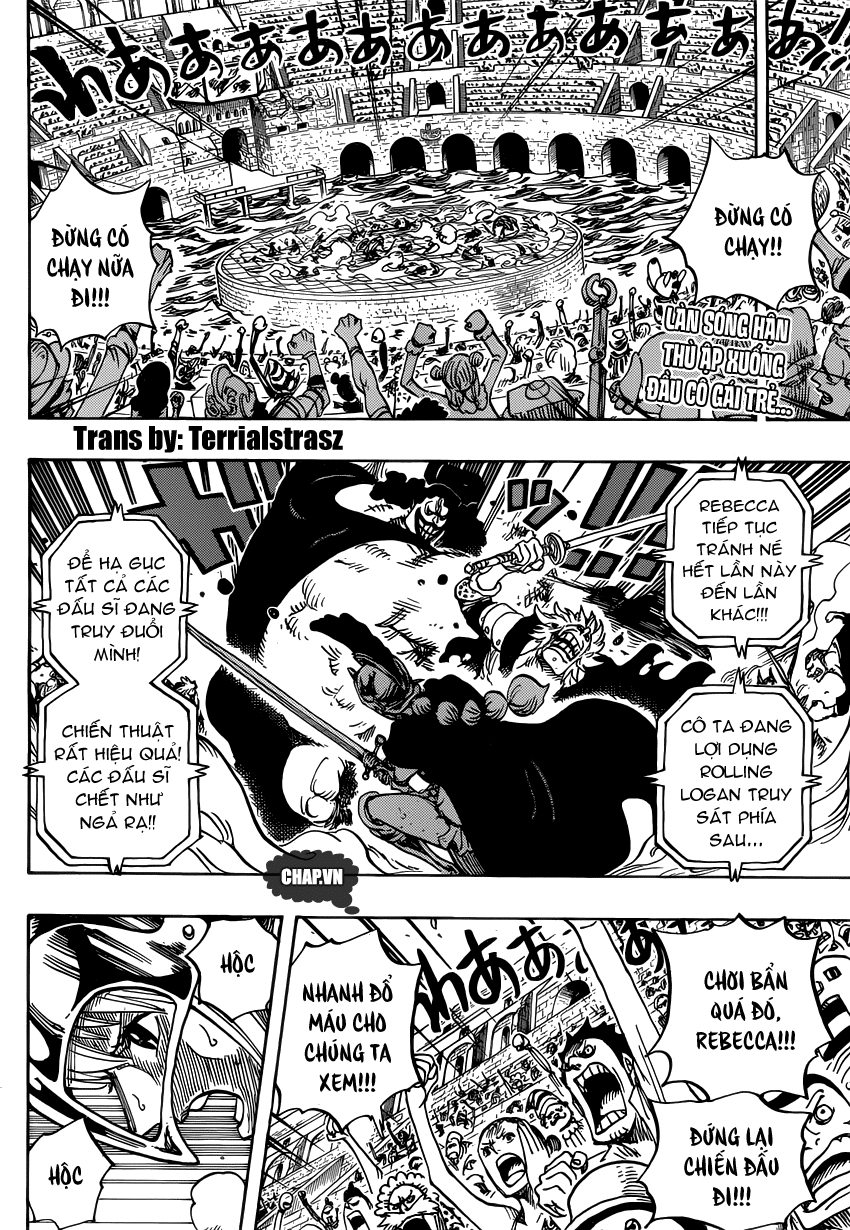 """One Piece Chapter 727: """"Anh hùng"""" mai phục 002"""