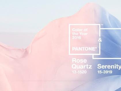 Rosa Cuarzo & Azul Serenity colores año 2016 de Pantone