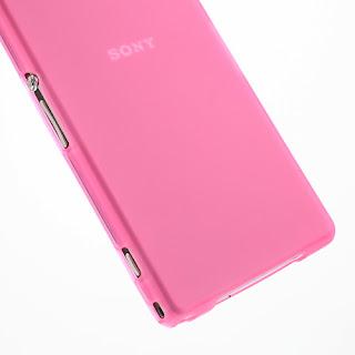 Matte TPU Case for Sony Xperia Z1 Honami C6903 C6906 C6902 C6943 L39h - Translucent Pink