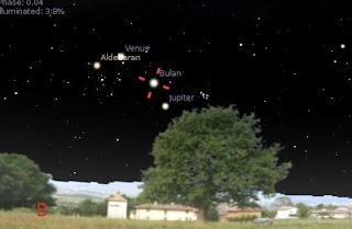 Formasi Segitiga Bulan, Venus dan Jupiter 18 Juni 2012
