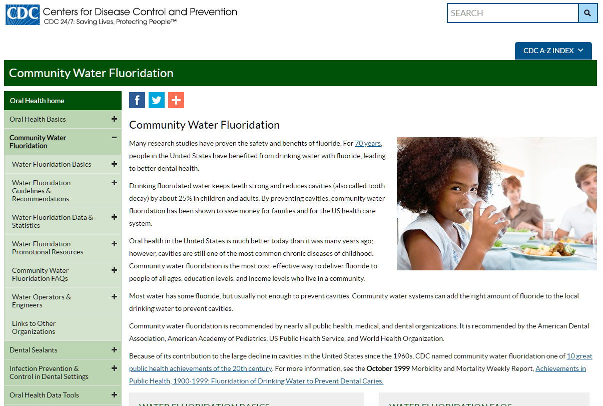 community water fluoridation division of oral health cdc - HD1205×811