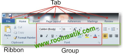 interface ribbon word2010