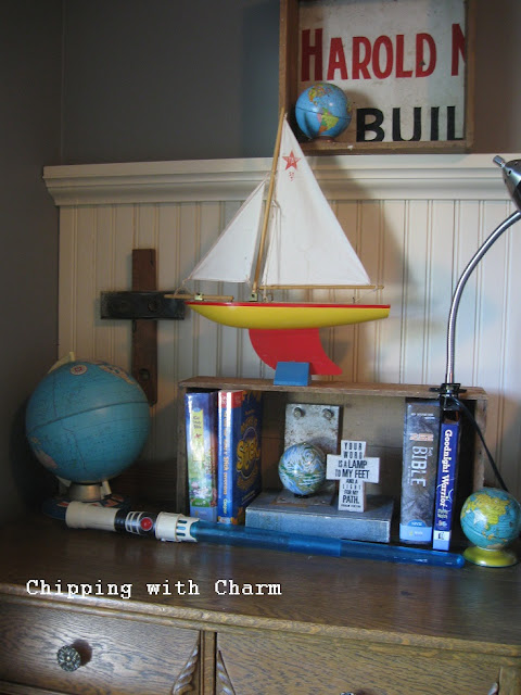 Chipping with Charm:  Metal Ladder to Hook Rack...http://www.chippingwithcharm.blogspot.com/
