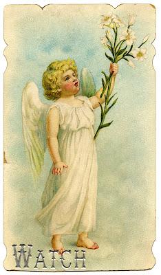 Vintage со Пасхи изображение ангела