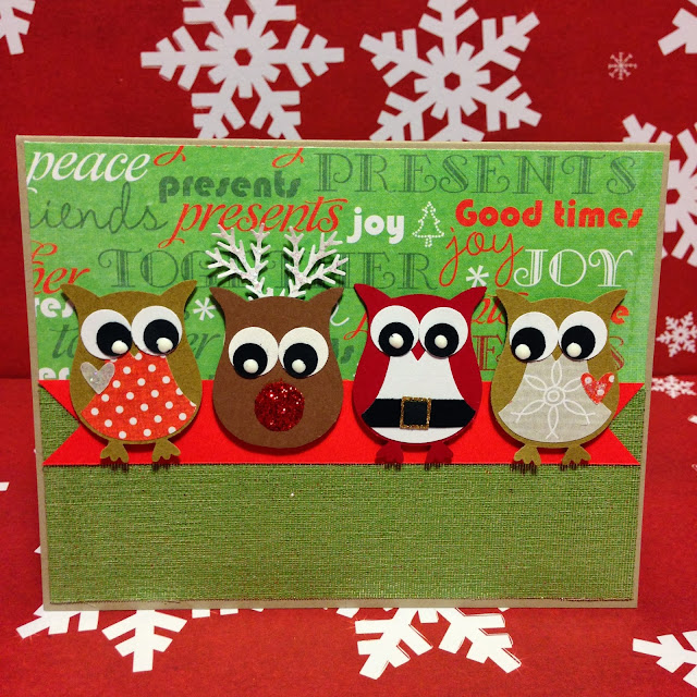 christmas-card-owl-santa-reindeer-family-shimmer-ribbon-joy