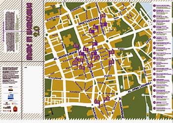 Mapa zakładów rzemieślniczych Warszawy.