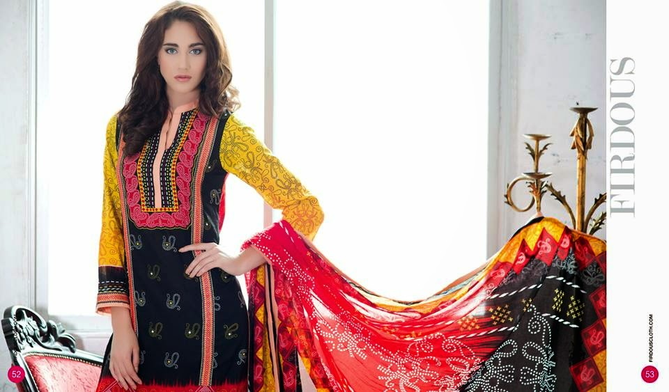 Firdous lawn 2015 collection