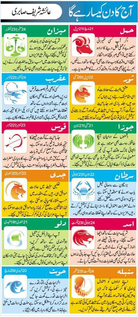 Daily Horoscope in Urdu Today 28 October 2015