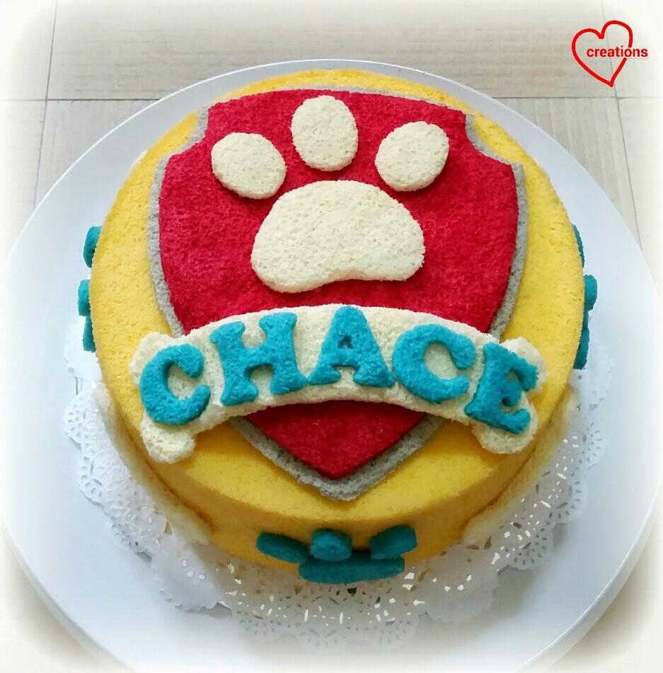 how to make a paw patrol bone birthday cake