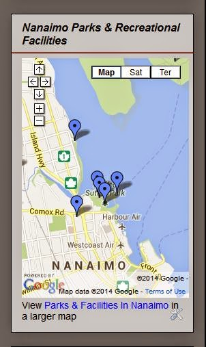 Nanaimo Parks Map