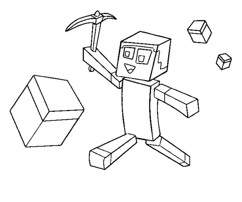 Printable Minecraft 3 Coloring Page title=