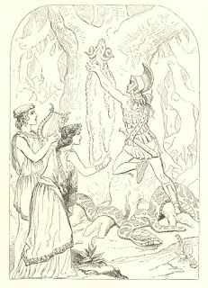 The Golden Fleece, drawing from Charles Kinglsey's The Heroes (from Project Gutenberg, http://www.gutenberg.org/files/677/677-h/677-h.htm)