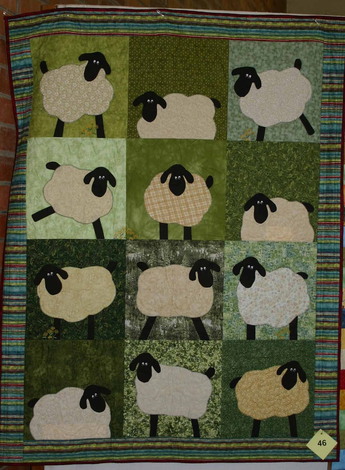 Tollgate Quilters Guild: Meander Quilters Guild Quilt Exhibition : sheep quilt pattern - Adamdwight.com