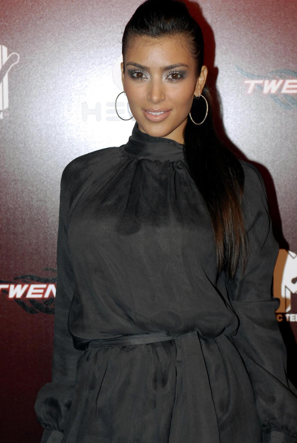 Kim Kardashian Ponytail Hair 01