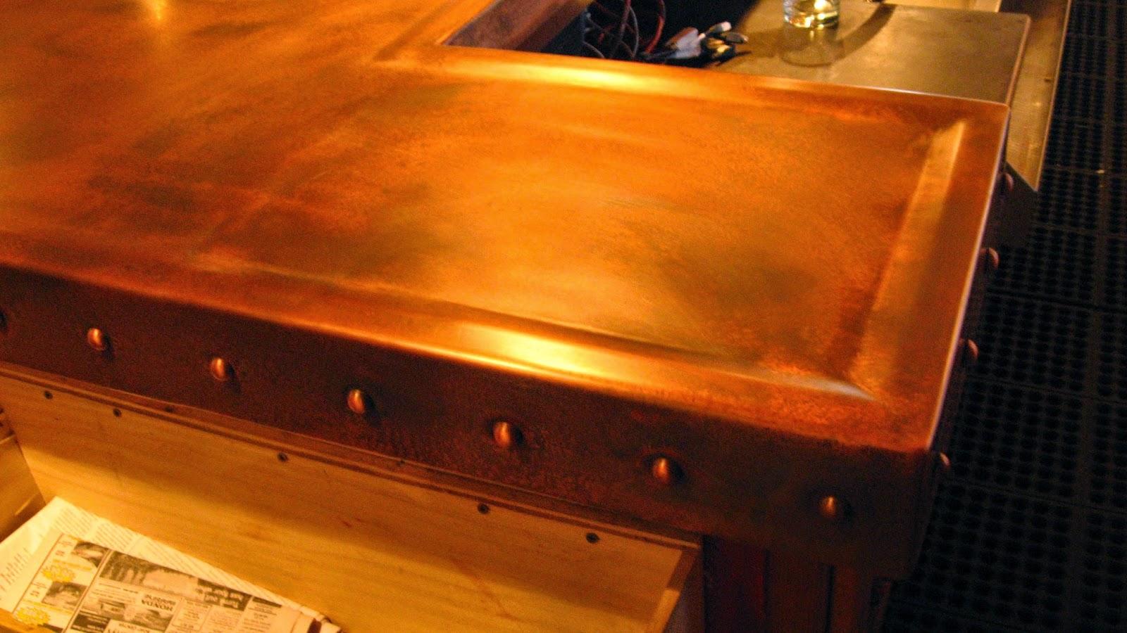 Heavy Metal Works Prima Bistro Copper Bar Top