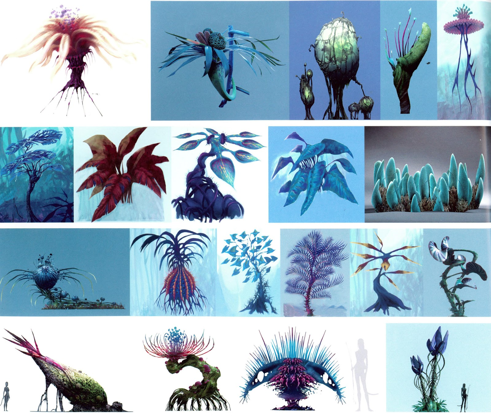 Examples Of Plants Created To Populate The Pandoran Echosystem
