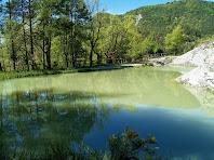 La bassa del Puig amb el Turó de la Creu de Gurb al fons a l'esquerra de la imatge