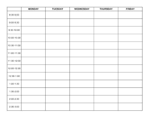 Preschool Blank Lesson Plan Forms